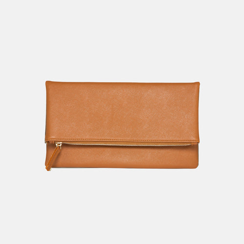 Glitter Girl Clutch - Tan