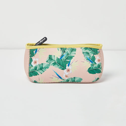Goddess Beauty Bag - Floral/Nude