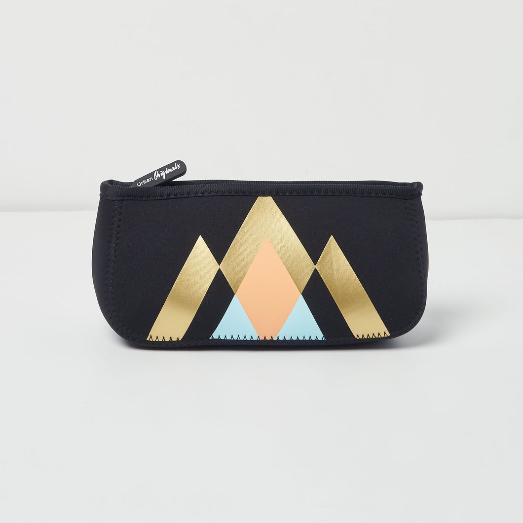 Goddess Beauty Bag - Geometric Black - Urban Originals Australia