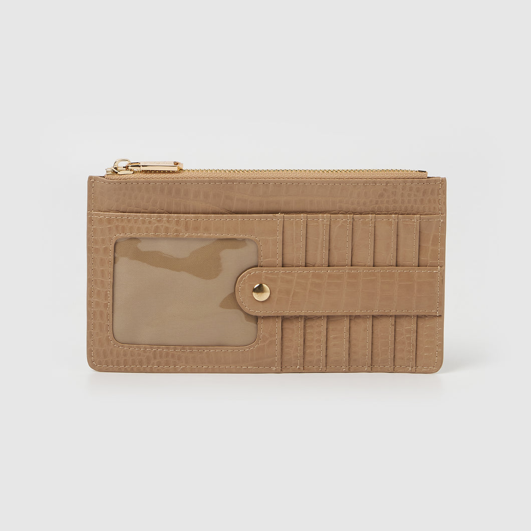 Hold Me Wallet - Tan Crocodile