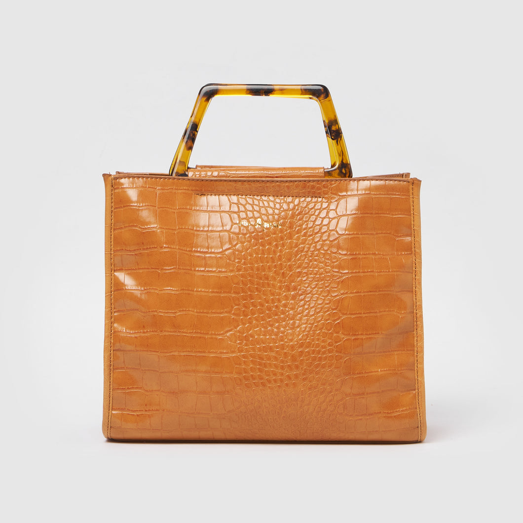 Iconic Love Tote by Urban Originals - Tan Croc