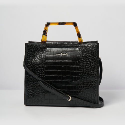 Iconic Love Tote - Black Croc