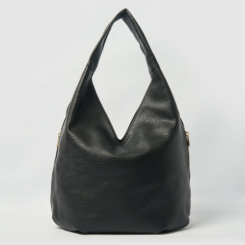 Love Success Vegan Slouch Bag by Urban Originals - Black