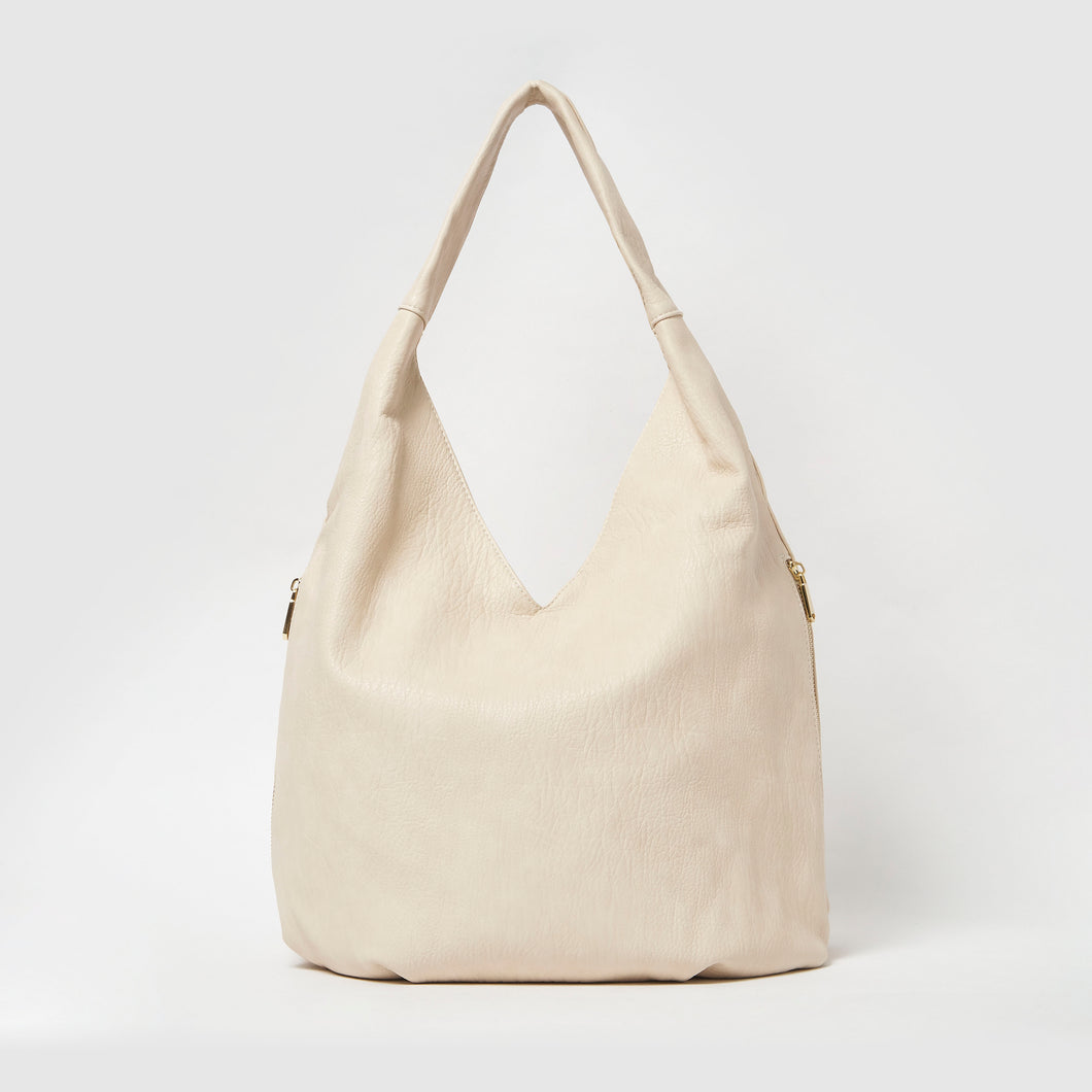 Love Success Vegan Slouch Bag by Urban Originals - Latte
