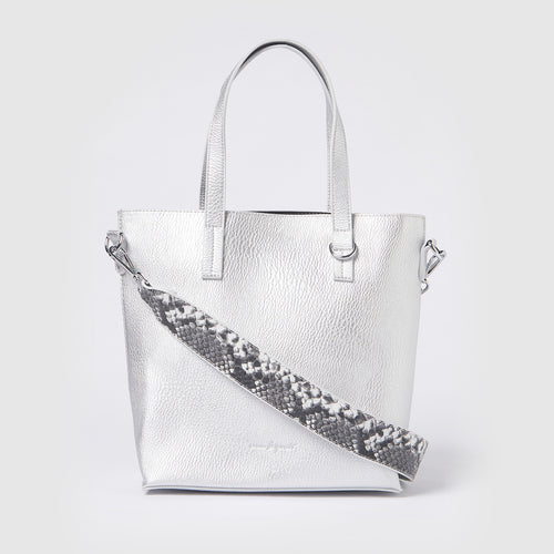 Mini New Dawn Tote - Silver