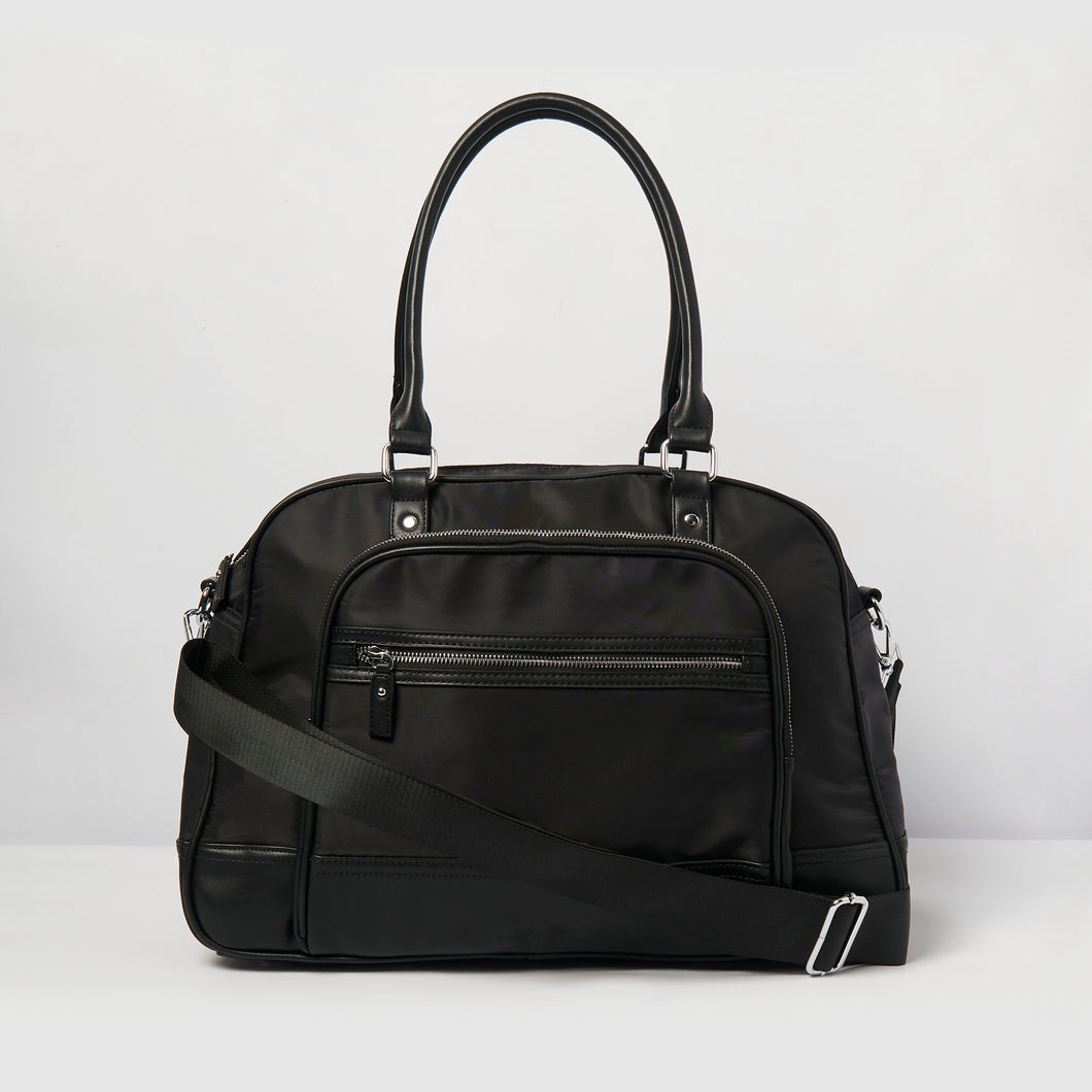 Moon Nylon Overnight Bag - Black
