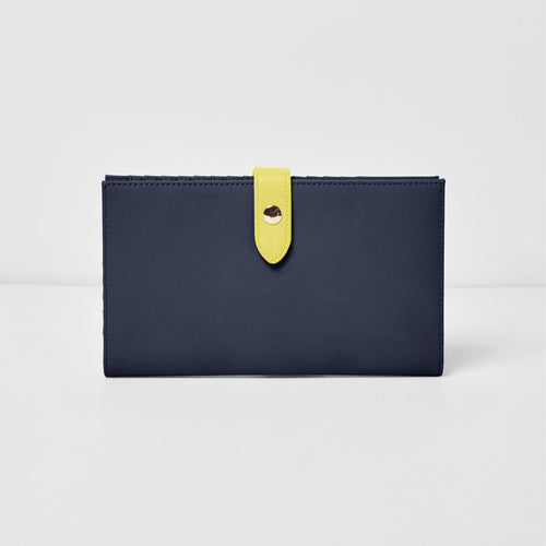New Shadow Wallet - Navy/Yellow