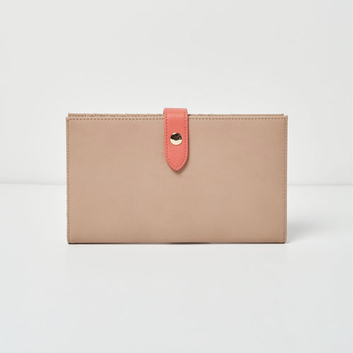 New Shadow Wallet - Taupe/Pink