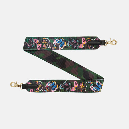 Paris Strap - Green/Butterfly