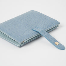 Peace Wallet - Blue Croc