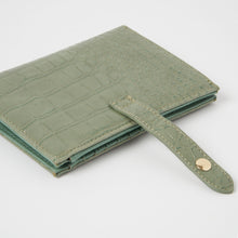 Peace Wallet - Green Croc