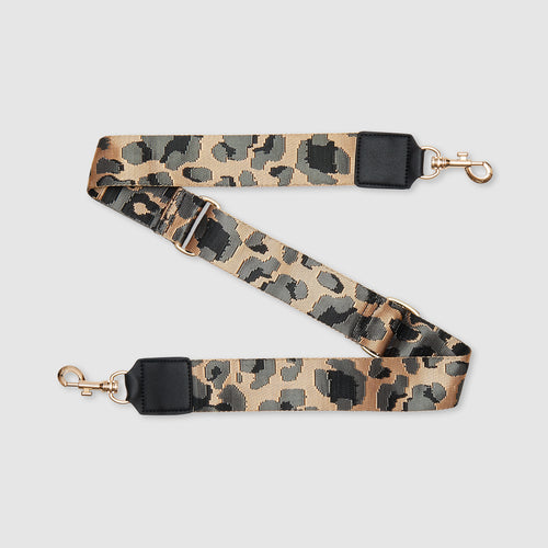 Leopard Strap - Grey/Gold