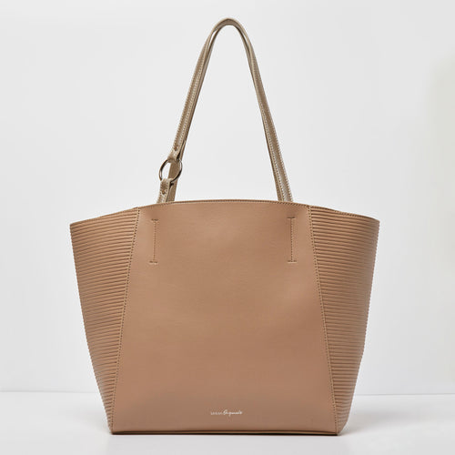 Splendour Tote- Light Nude/Gold