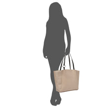Splendour Tote- Light Taupe/Black
