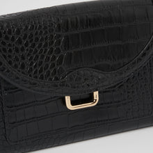 The Edit Bag - Black Croc