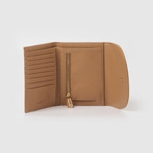 Tranquility Wallet - Taupe/Yellow