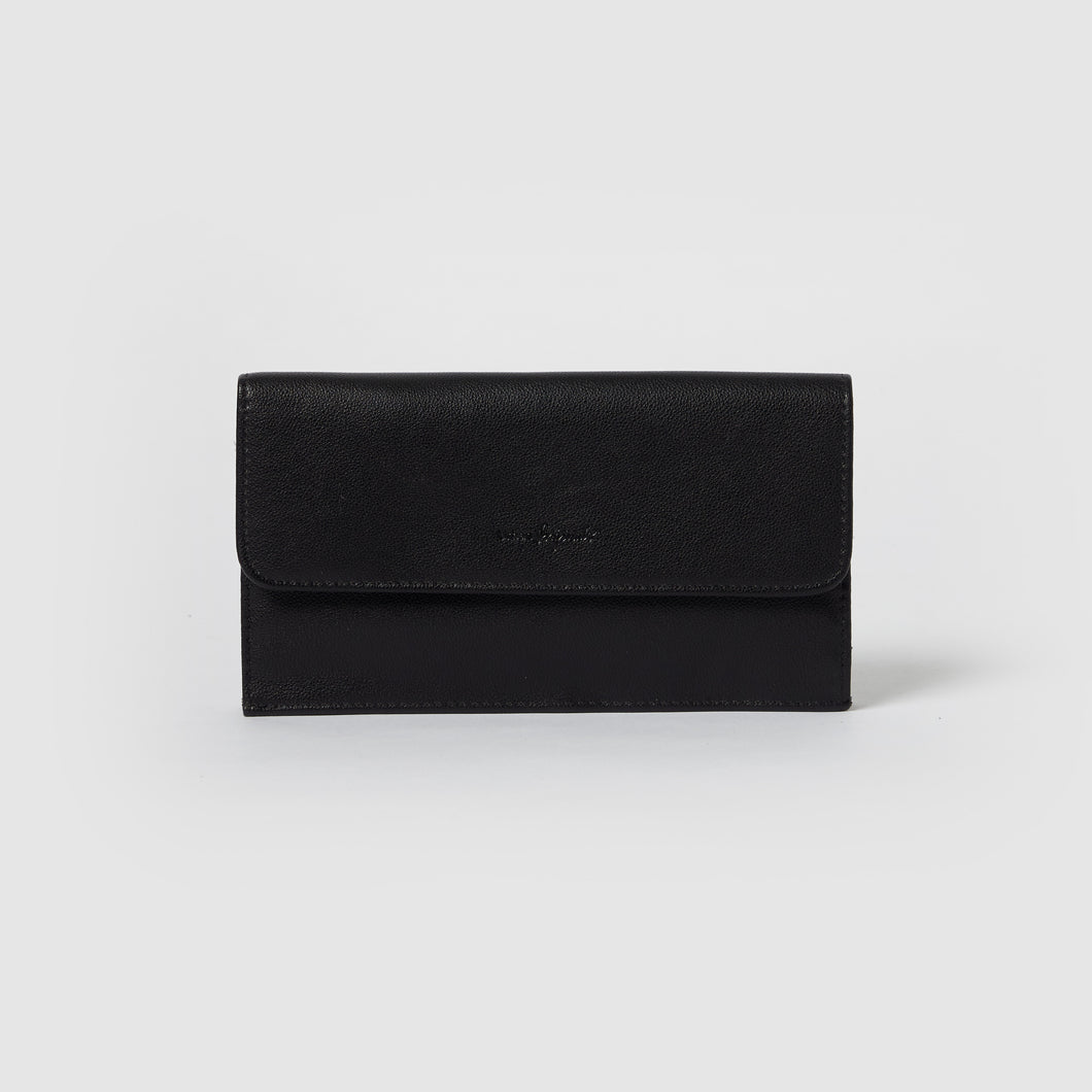 Button Up Wallet - Black