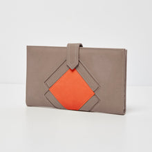Ventura Wallet - Grey/Orange