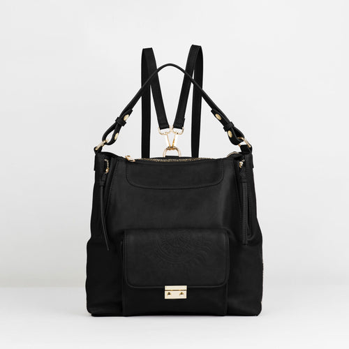 Wild Flower Backpack - Black