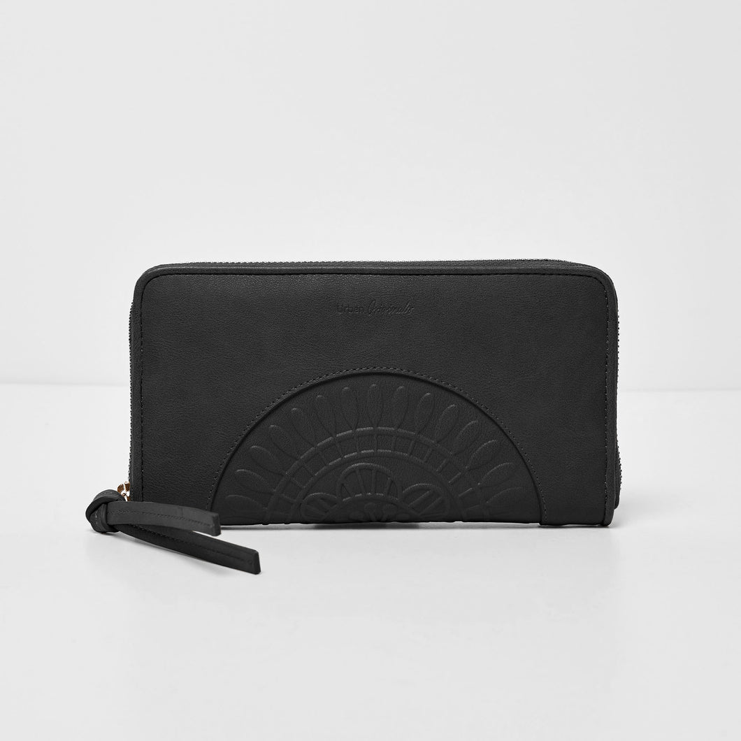 Wild Rose Wallet - Black