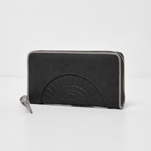 Wild Rose Wallet - Black/Grey