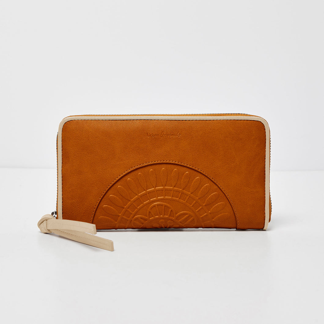 Wild Rose Wallet - Tan/Beige