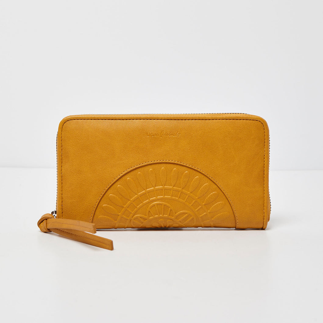 Wild Rose Wallet - Yellow