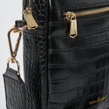 Catch Up Vegan Crossbody Bag - Black Croc