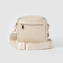 Catch Up Vegan Crossbody Bag - Oat Croc