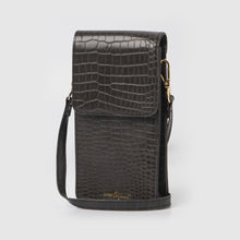 Crocodile Phone Wallet - Black