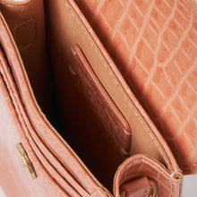 Crocodile Phone Wallet - Blush