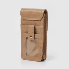 Crocodile Phone Wallet - Tan