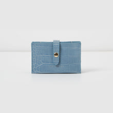 Faith Wallet - Blue Croc