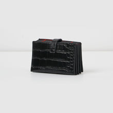 Faith Wallet - Black Croc