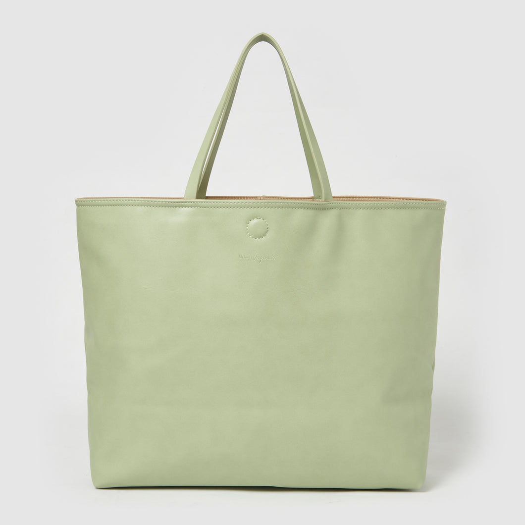 Flipside Tote by Urban Originals - Green/Nude