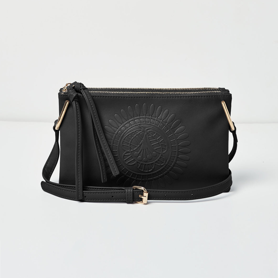 Flower Cross Body - Black