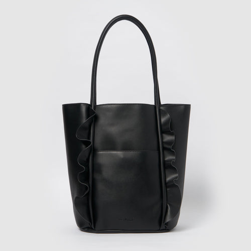 Frill Vegan Tote by Urban Originals - Black