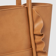 Frill Vegan Tote by Urban Originals - Tan