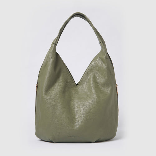 Love Success Hobo Bag - Green Textured