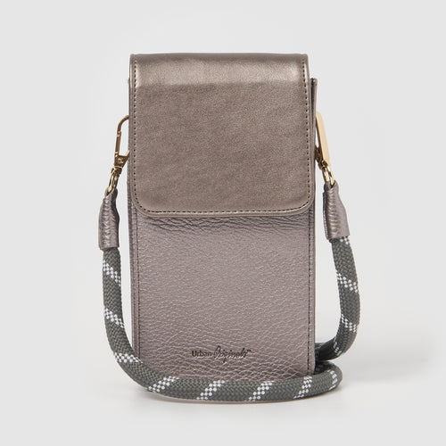 Nova Crossbody Wallet - Pewter