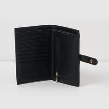 Peace Wallet - Black Croc