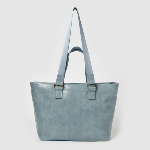 Sunrise Vegan Leather Tote by Urban Originals - Turquoise