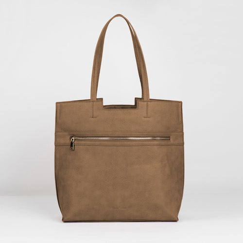 Timeless Tote - Taupe - Urban Originals USA