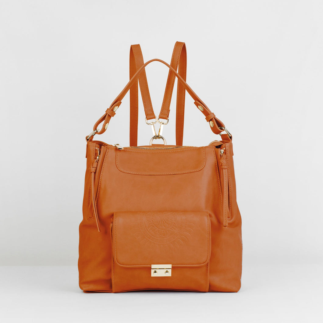 Wild Flower Backpack - Tan - Urban Originals USA