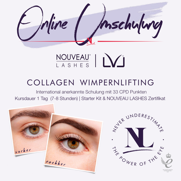 ONLINE UMSCHULUNG LVL COLLAGEN LASH LIFTING UMSCHULUNG