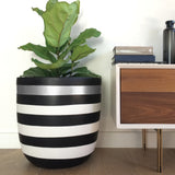 Stripe Planter Pot