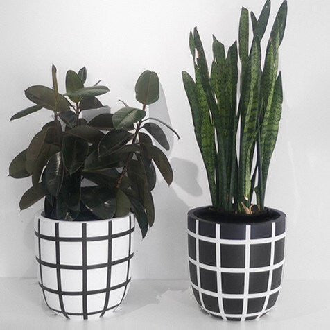 Grid Planter Pot