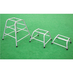 Raw Aluminium Trapezium Trestle Set of 3