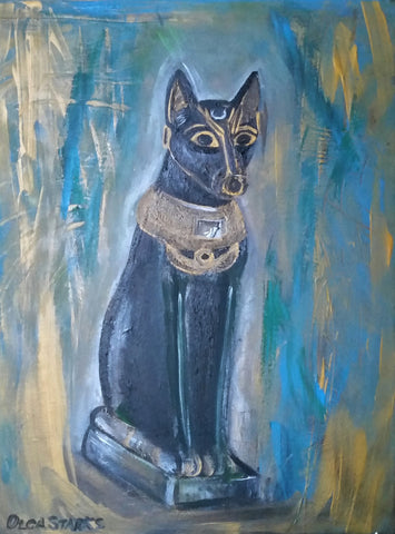 Egyptian Cat-Matt Laminated Print