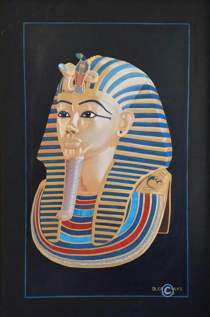 King Tut Mask-Small Matt Laminated Print